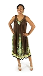 Traditional Sundress: Long / Dark Brown