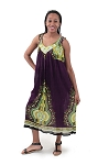 Traditional Sundress: Long / Purple