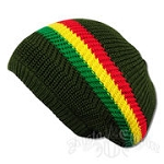 Rasta Stripes Tam Olive