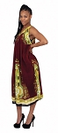 Traditional Sundress: Long / Maroon