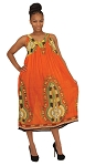 Traditional Sundress: Long / Orange