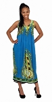 Traditional Sundress: Long / Turquoise