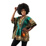 Traditional Elastic Dashiki Green