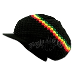 Rasta Band Brim Headwear- Black