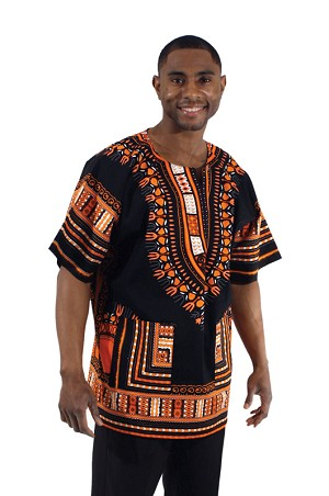 Dashiki: Blk/Orange